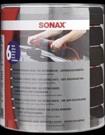 SONAX Polijstschijf grijs, 160 mm (zacht) Six-Pack