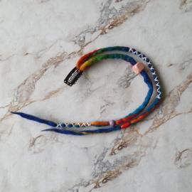 Dreadlock clip-in - 35 cm - Rainbow