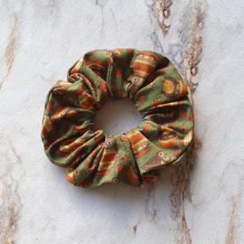Scrunchie uiltjes groen