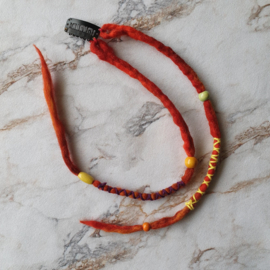Dreadlock clip-in - 38/32 cm - vuurrood