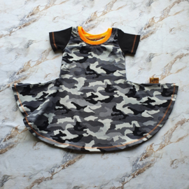 Sweetie pie dress - Army - maat 6-12 maanden