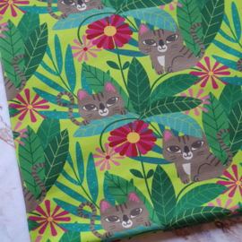 Coupon jungle tiger - Megan blue fabrics