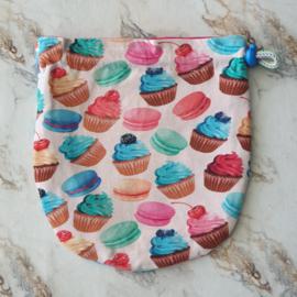 Knikkerzak rond Cupcakes