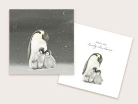 kerstkaart pinguïns