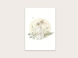 Ansichtkaart konijntje 2021