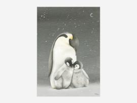 A5 pinguïns donker