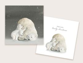 kerstkaart ijsberen