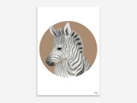A5 zebra in cirkel