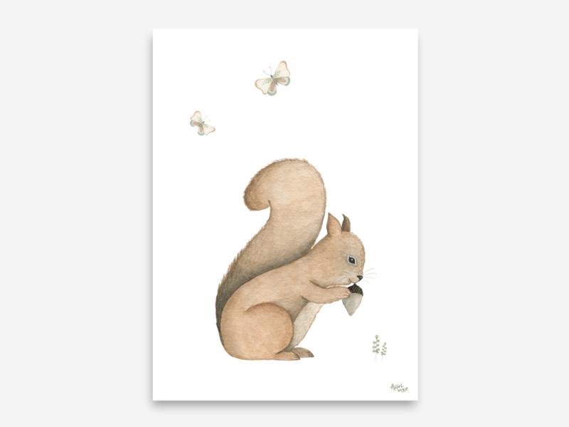 A5 eekhoorn met vlinders