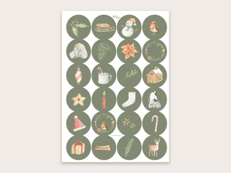 Kerst sluitzegels/stickers