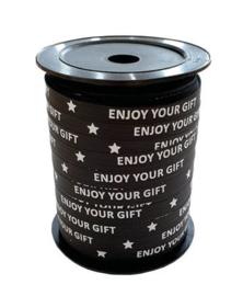 Enjoy your gift - zwart/wit