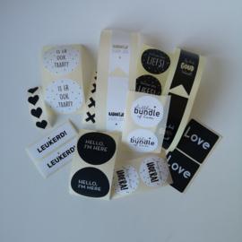 Mix stickers - zwart/wit