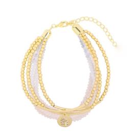 Sparkle shine leaf | Bracelet | White