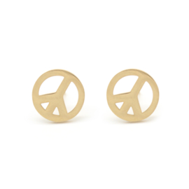 Peace | Studs | Gold