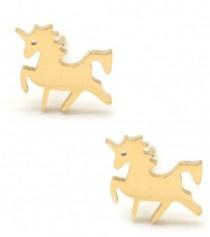 Unicorn | Studs | Gold