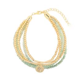 Sparkle shine leaf | Bracelet | Green