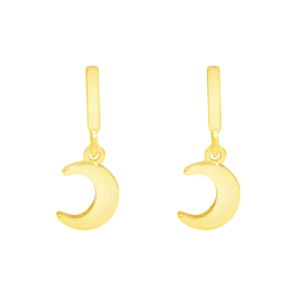 Tiny Little Moon   Earrings   Gold