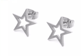 Star Open II | Studs | Silver