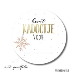 Kerst Kadootje voor..   Stickers   5 Stuks