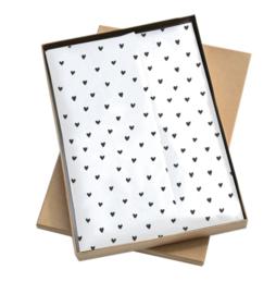 Vloei papier | Hartjes | Zwart-Wit