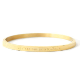 You Are One In A Million | Bangle | Gold