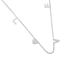 Love | Ketting | Silver