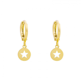 Circle Star | Oorbellen | Gold