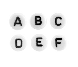 Letterkralen | Wit-Zwart | Gemixt