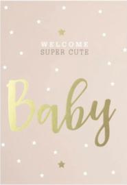 Welkom Baby Pink | Stickers | 10 stuks