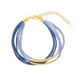 Groovy Sparkle Beads | Bracelet | Blue