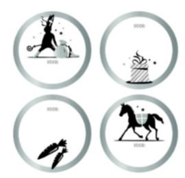 Sinterklaas   Stickers   4 stuks