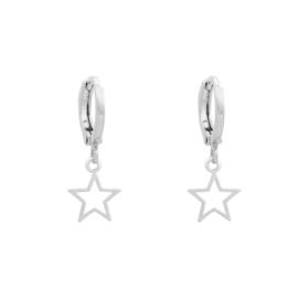 Galaxy Star Open | Oorbellen | Silver