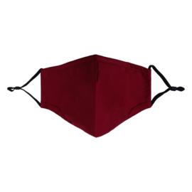 Wasbare | Mondkapje | Bordeaux rood