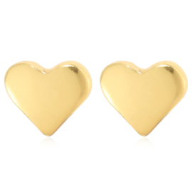 Heart | Studs | Gold
