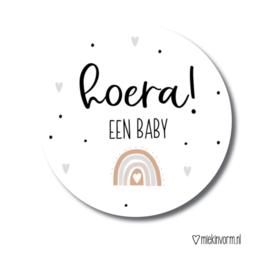 Hoera ! een baby   Stickers   5 Stuks