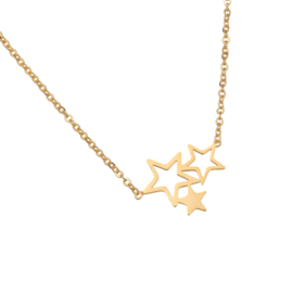Triple Stars | Ketting | Gold