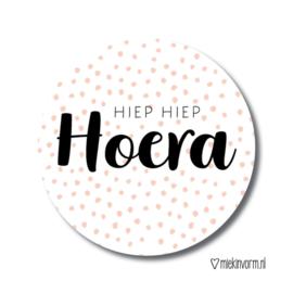Hiep Hiep Hoera | Stickers | 10 stuks