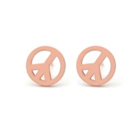 Peace | Studs | Rosé