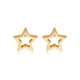 Star Open | Studs | Gold