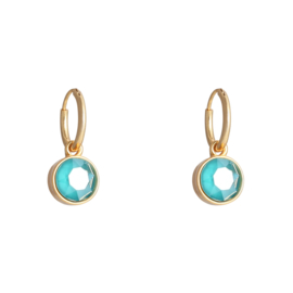 Shine Bright | Oorbellen | Turqouise-Gold