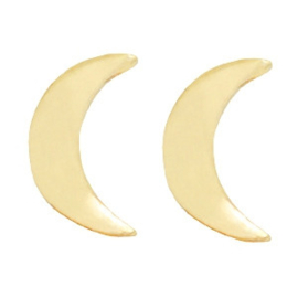 Moon | Studs | Gold