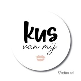 Kus van mij | Stickers | 10 stuks
