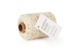 Cotton Cord | Beige-Goud | 3m