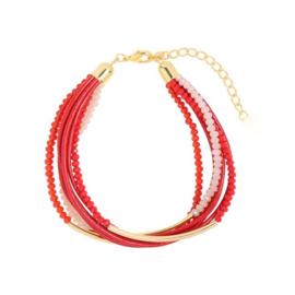 Groovy Sparkle Beads | Bracelet | Red