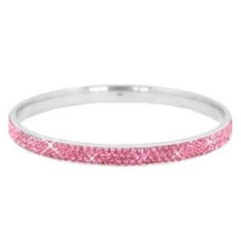 Sparkle | Bangle | Silver-Pink