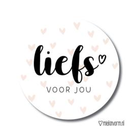 Liefs voor jou | Stickers | 10 stuks