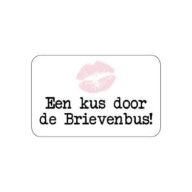 Een kus door de brievenbus | Stickers | 10 stuks
