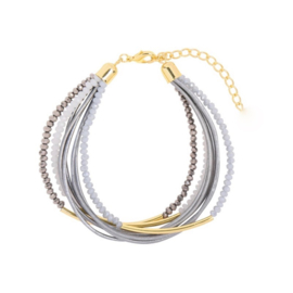 Groovy Sparkle Beads | Bracelet | Grey