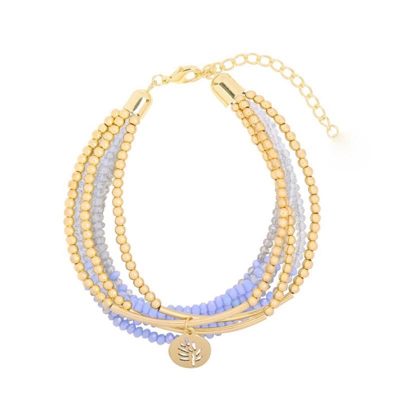Sparkle shine leaf | Bracelet | Blue
