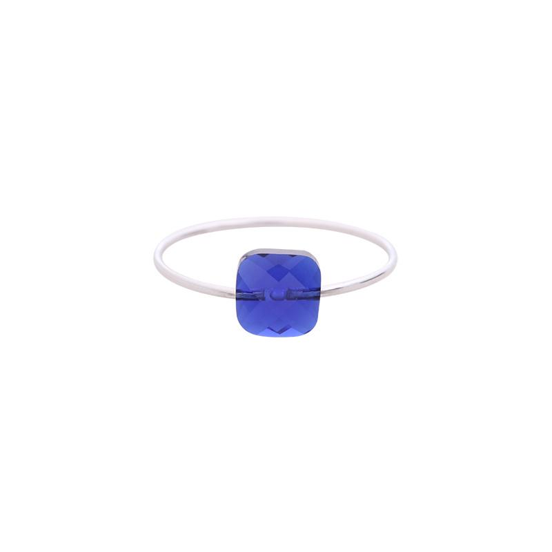 Square | Ring | Blue